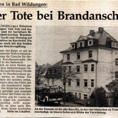 1993 - Brand in Richard-Kirchner-Str.