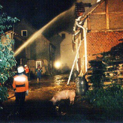 1995 - Brand Scheune