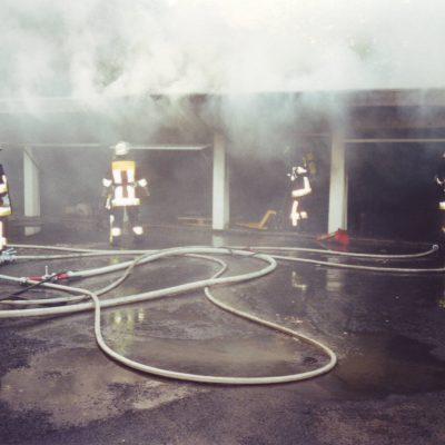 2001 - Garagenbrand