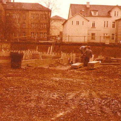 Bauarbeiten 1975