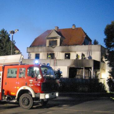 Brand im Talquellenweg am 26.08.2003